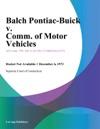 Balch Pontiac-Buick V Comm Of Motor Vehicles