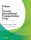 Wilson V Navistar International Transportation Corp