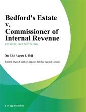 Bedford's Estate v. Commissioner of Internal Revenue