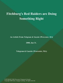 FITCHBURGS RED RAIDERS ARE DOING SOMETHING RIGHT