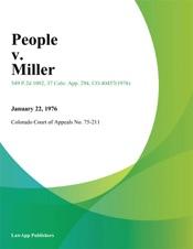 Download and Read Online People v. Miller