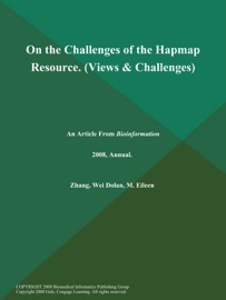 On The Challenges Of The Hapmap Resource Views Challenges