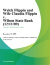 Welch Flippin And Wife Claudia Flippin V Wilson State Bank