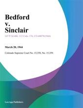 Bedford V. Sinclair