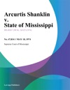 Arcurtis Shanklin V State Of Mississippi