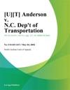UT Anderson V NC Dept Of Transportation