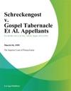 Schreckengost V Gospel Tabernacle Et Al Appellants