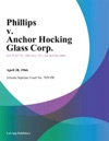 Phillips V Anchor Hocking Glass Corp