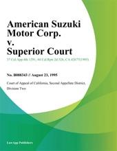 American Suzuki Motor Corp. V. Superior Court