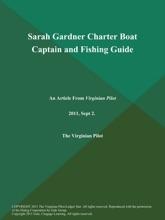 Sarah Gardner Charter Boat Captain And Fishing Guide