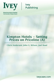 Kimpton Hotels - Setting Prices on Priceline (A) PDF Download