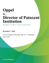Oppel V Director Of Patuxent Institution