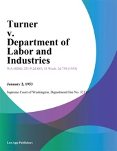 Turner V. Department Of Labor And Industries