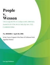 People V. Wesson