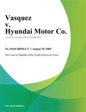Vasquez v. Hyundai Motor Co.
