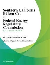 Southern California Edison Co. V. Federal Energy Regulatory Commission