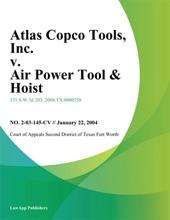 Atlas Copco Tools, Inc. v. Air Power Tool & Hoist, Inc.