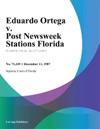 Eduardo Ortega V Post Newsweek Stations Florida