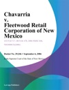 Chavarria V Fleetwood Retail Corporation Of New Mexico
