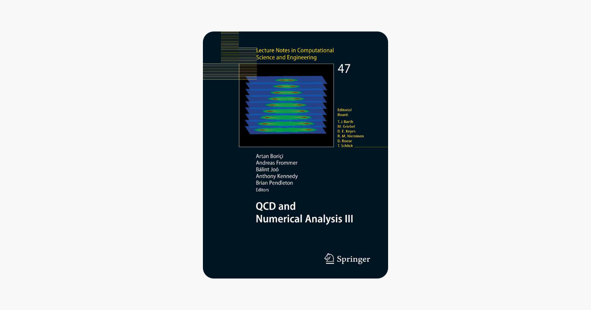 ‎QCD and Numerical Analysis III