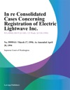 In Re Consolidated Cases Concerning Registration Of Electric Lightwave Inc