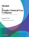 Moidel V Peoples Natural Gas Company