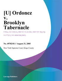 [U] Ordonez V. Brooklyn Tabernacle