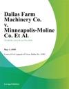 Dallas Farm Machinery Co V Minneapolis-Moline Co Et Al
