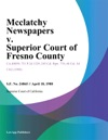 Mcclatchy Newspapers V Superior Court Of Fresno County