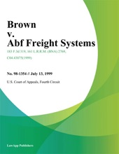 Brown V. Abf Freight Systems