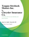 Teague-Strebeck Motors Inc V Chrysler Insurance Co