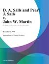 D A Salls And Pearl J Salls V John W Martin