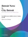 Detroit News V City Detroit
