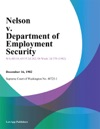 Nelson V Department Of Employment Security