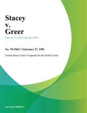 Stacey V. Greer
