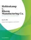 Hohlenkamp V Rheem Manufacturing Co