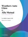 Weathers Auto Glass V Alfa Mutual