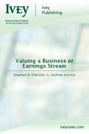 VALUING A BUSINESS OR EARNINGS STREAM