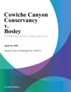Cowiche Canyon Conservancy V Bosley