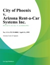 City Of Phoenix V Arizona Rent-A-Car Systems Inc
