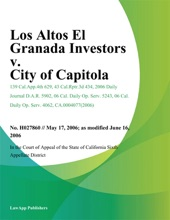 Los Altos El Granada Investors V. City Of Capitola