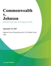 Commonwealth V. Johnson