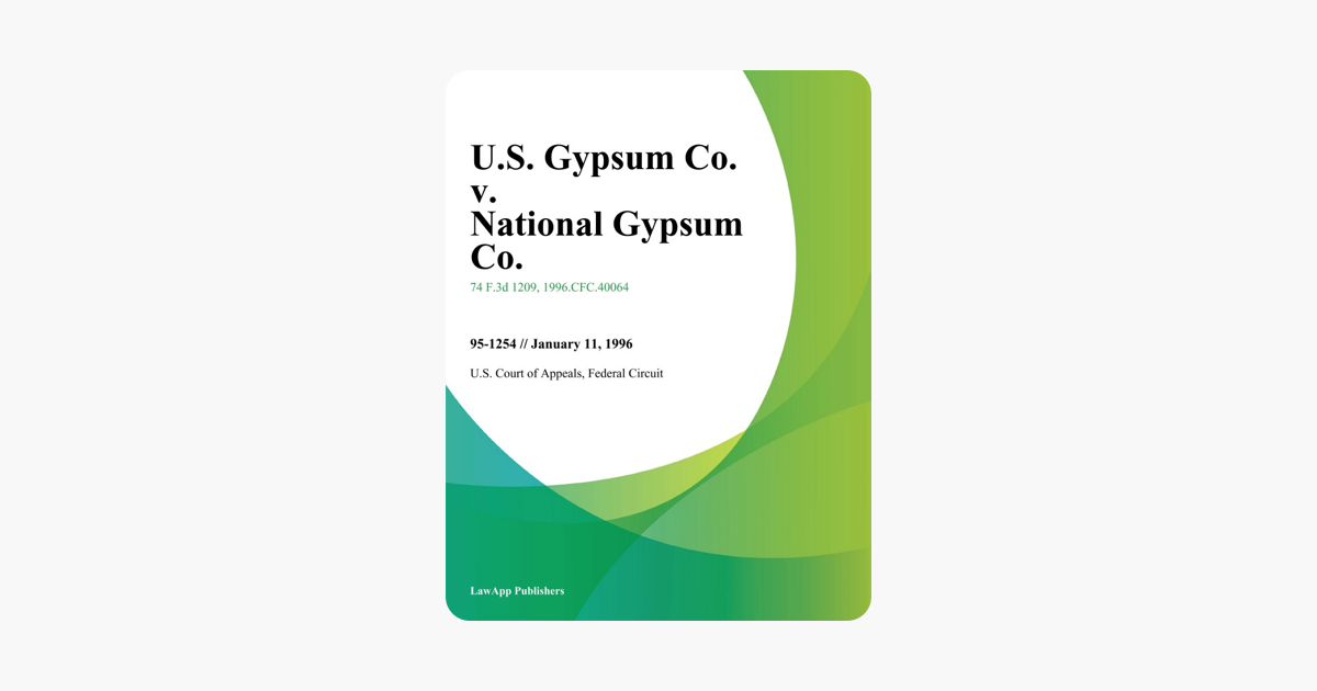 U S  Gypsum Co  v  National Gypsum Co