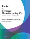 Tacke V Vermeer Manufacturing Co