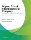 Dupont Merck Pharmaceutical Company