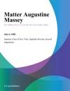 Matter Augustine Massey