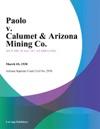 Paolo V Calumet  Arizona Mining Co