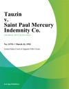 Tauzin V Saint Paul Mercury Indemnity Co