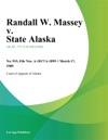Randall W Massey V State Alaska