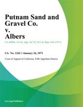 Putnam Sand And Gravel Co. V. Albers